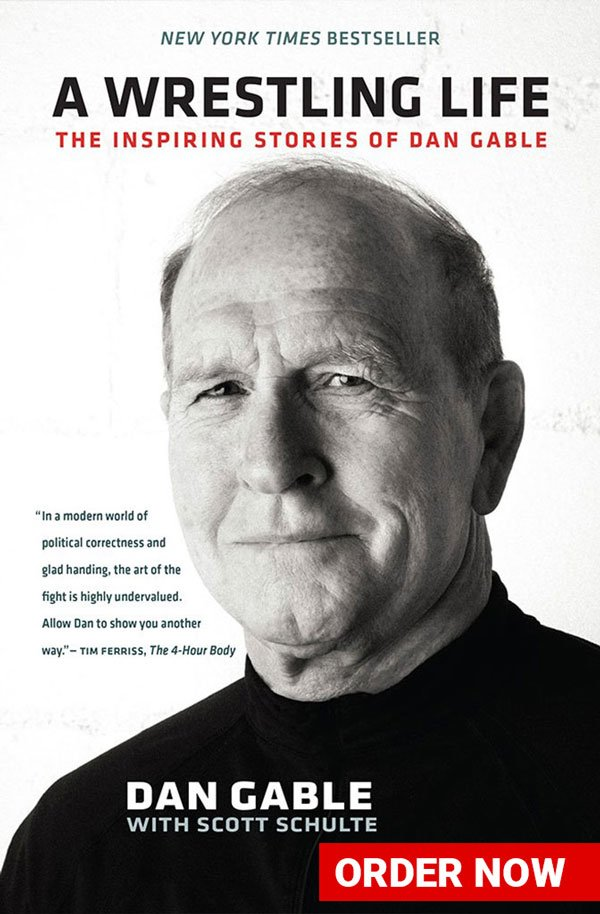 "Dan Gable's ""A Wrestling Life"" Book Cover"